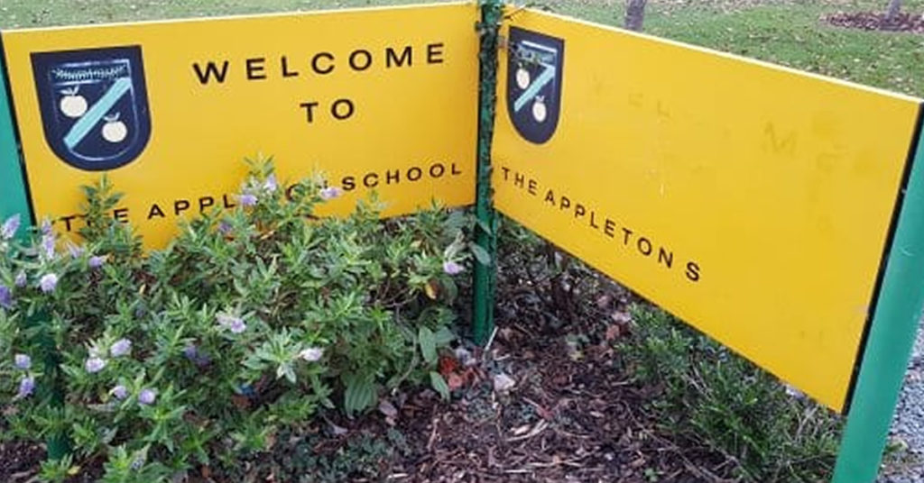The Appleton School are runners up in best website competition
