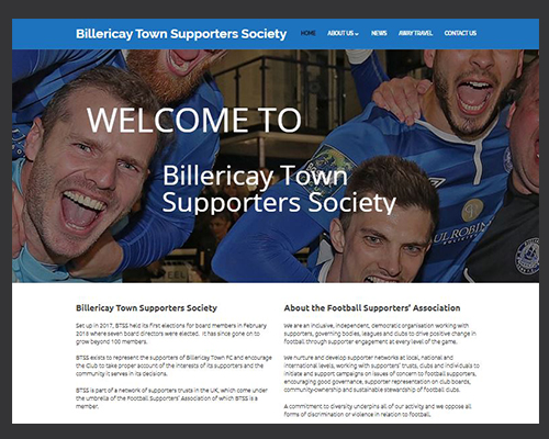 Billericay Town Supporters Society web sponsorships by BWSIT Limited