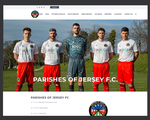 Parishes of Jersey FC website non-profit organisation BWSIT Limited