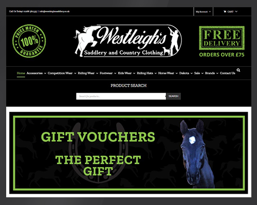 Online Selling Westleigh's Saddlery and Country Clothing by BWSIT Limited