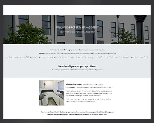 Willward website image by BWSIT Limited web small and medium enterprise