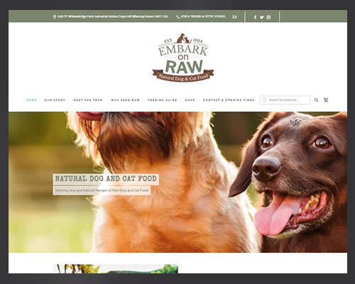 Website for Embarkonraw, Billericay designed by BWSIT Limited